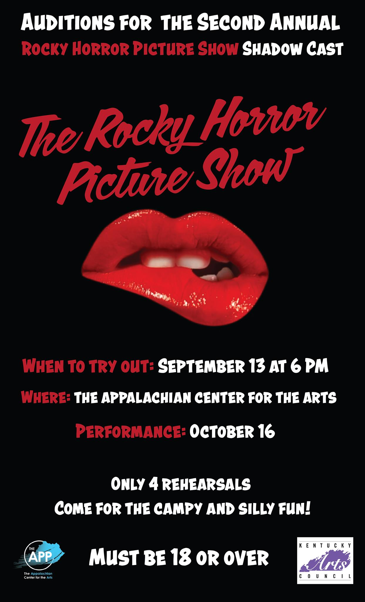 Auditions for the second annual Rocky Horror Picture Show