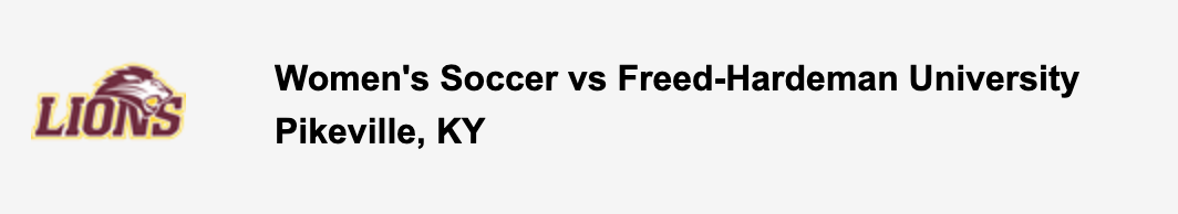 Women's Soccer vs Freed-Hardeman University