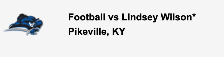 Football vs Lindsey Wilson