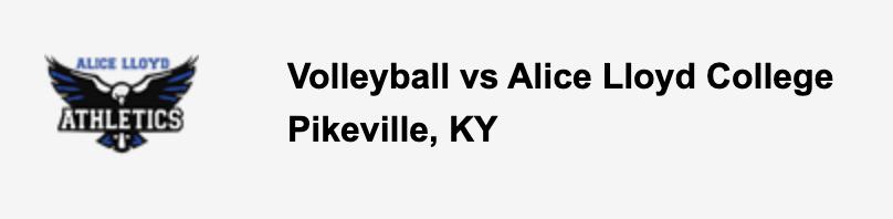 Volleyball vs Alice Lloyd College