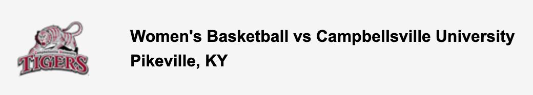 Women's Basketball vs Campbellsville University