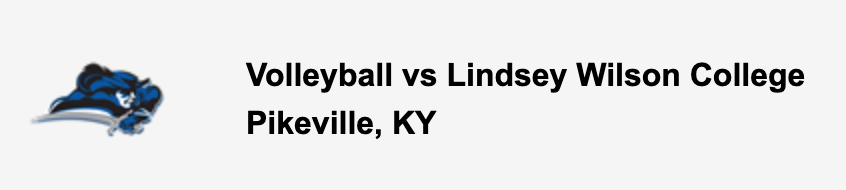 Volleyball vs Lindsey Wilson College