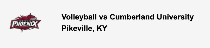 Volleyball vs Cumberland University