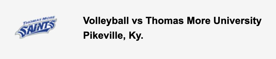 Volleyball vs Thomas More University